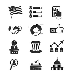 Voting and elections icon set vector