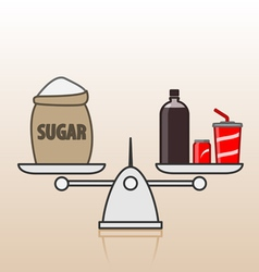 Soda and sugar vector