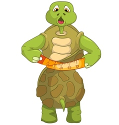Funny turtle diet vector