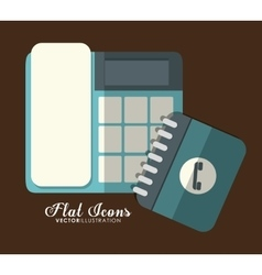Phone icon office instrument design vector