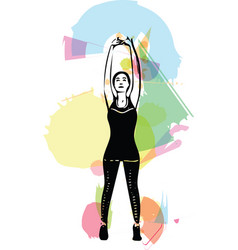 Abstract fitness woman trained female body vector