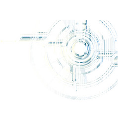 Abstract technological futuristic interface on vector