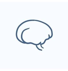 Brain sketch icon vector image