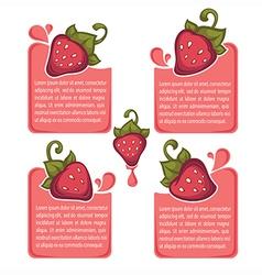 Bright strawberry vector