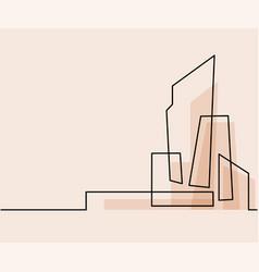 building cityscape line art silhouette vector image