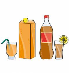 cola and juice vector image