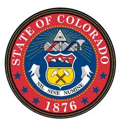colorado state seal vector image vector image