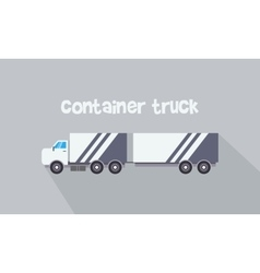 container truck vector image vector image