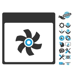 Fan calendar page icon with bonus vector