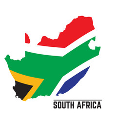 flag and map of south africa vector image vector image