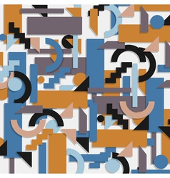 Geometric background in cubism style vector image