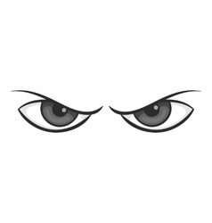 Gloomy eyes icon black monochrome style vector