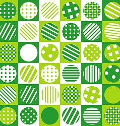 Green geometrical background with squared and vector image vector image