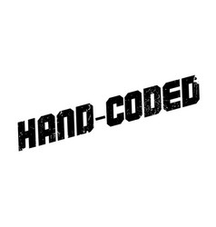 Hand-coded rubber stamp vector