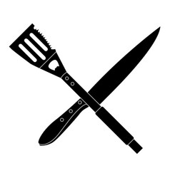 isolated barbecue cutlery vector image