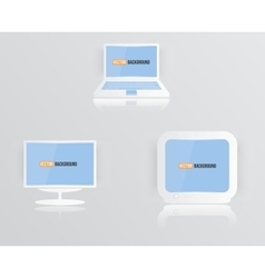 monitor icon blue 010413 vector image