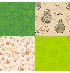 Natural seamless patterns set vector image vector image