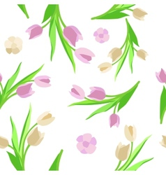 Pattern flower background green vector