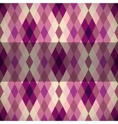 Pink diamond seamless pattern vector image vector image