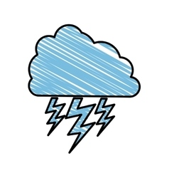 Storm cloud icon image vector