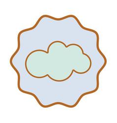 Symbol nice cloud sky icon vector