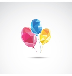 Triangle color balloons vector image