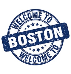 welcome to Boston vector image vector image
