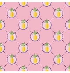 Summer pineapple pattern vector image