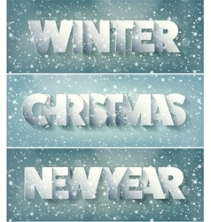 Winter Christmas xmas new year card Typography vector image
