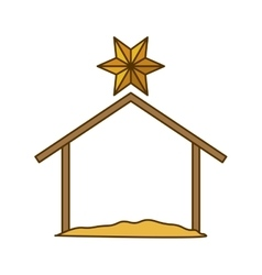 Isolated holy house design vector