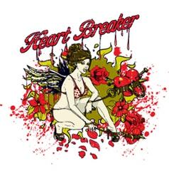 Heart breaker girl vector image