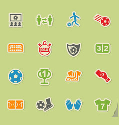 Football icon set vector