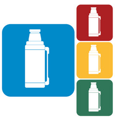 Thermos container icon vector