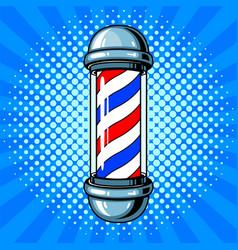 Barber sign pop art style vector
