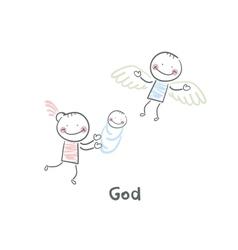 God vector image