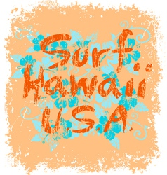 surf hawaii vector image