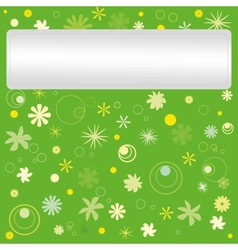 Postcard with floral pattern vector image