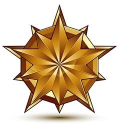 3d classic royal symbol sophisticated golden star vector