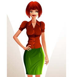 Beautiful coquette smiling lady full body vector
