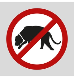 Stop dogs and no dogs sign eps10 vector