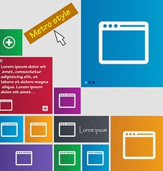 Simple browser window icon sign buttons modern vector