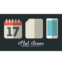 Calendar smartphone and document office vector