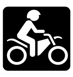 Biking sign vector