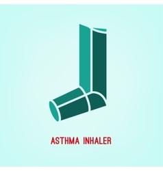 Asthma Inhaler vector image