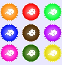 Ball cap icon sign big set of colorful diverse vector