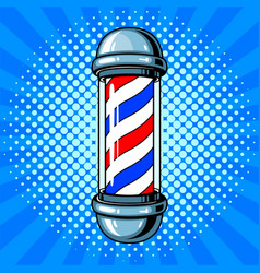 barber sign pop art style vector image vector image