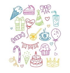 Birthday party image collection vector