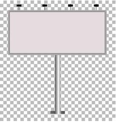 blank big billboard blank outdoor billboard with vector image