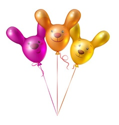 Bunch of balloons in the shape of birds vector image
