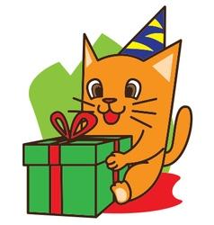 Cat Birthday vector image